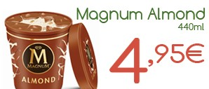 Helado Magnum Almond de 440ml. x 4,95€