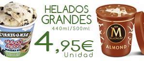 Helado Grande (440ml o 500ml) x 4,95€ del 2/09 al 20/10/2019