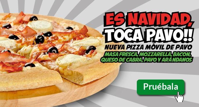Nueva pizza de pavo de Pizza Móvil