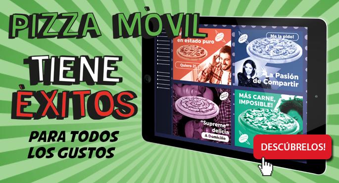 Descubre los éxitos de Pizza Móvil