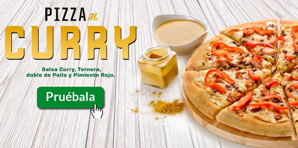 Nueva pizza Curry de Pizza Móvil